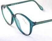 Big Round Eyeglasses Designer 80s Vintage / Womens Martin Copeland Green Eyewear