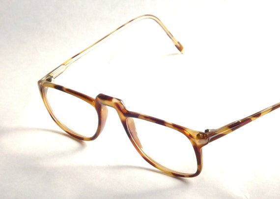 Tortoise Shell Glasses Half Frame : Italian Half Eye Readers Vintage 80s Eyewear Womens