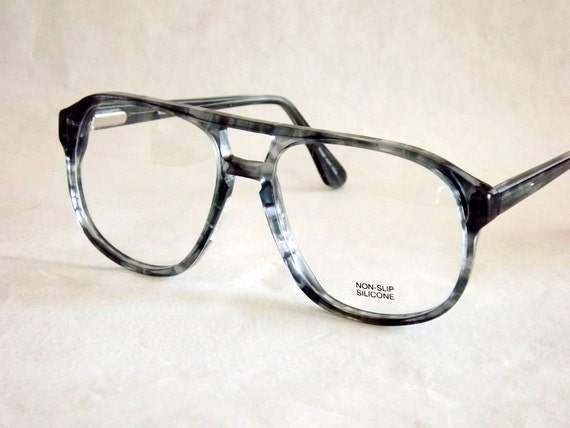 Aviator Eyeglasses Vintage 80s Macho Mens Tortoise Shell