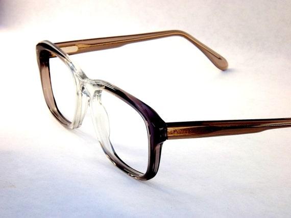 Clark Kent Mens Macho Square Designer 1980s Eyeglasses / Flex Temples / New Old Stock Frames
