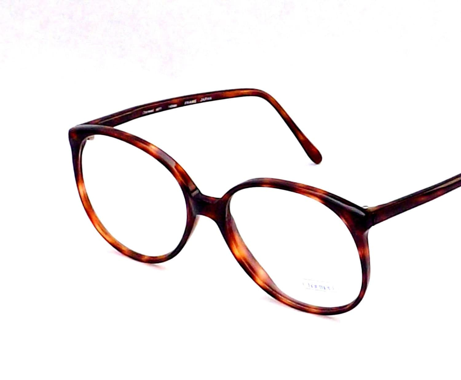 big preppy tortoise shell eyeglasses vintage eyewear