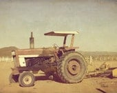"""Vintage tractor photography - Shabby rustic - Fine art harvest photograph - 8x12 """"Antique tractor"""""""