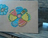 Hand-Embroidered Mexican Talavera Notecard (Blank Recycled 4x6)