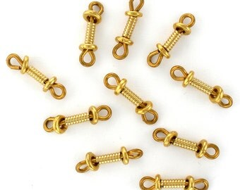 10 TierraCast 22K Gold Filled Heishi Plus Coil Pre-Assembled Jewelry Links Made in USA