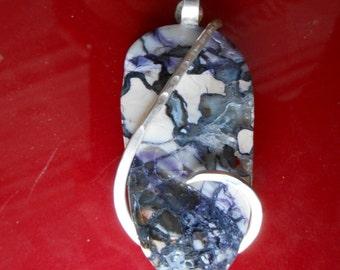 Tiffany Stone Silver wrapped Pendant