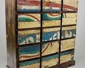 Solid Reclaimed Mahogany 15 Drawer Dresser