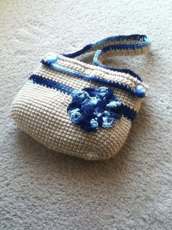 Crochet Small Bag : Crochet Purse small Hand Bag by rosewymercreations on Etsy