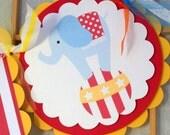 Circus Birthday Banner - Big Top Birthday - Bunting - Circus Carnival Party - Circus Birthday - Circus Banner