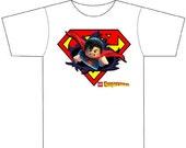 Kids Lego Superman Inspired T-Shirt