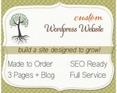 WORDPRESS Website. Custom Design. 3 web pages plus Blog. One of a kind (OOAK) Wordpress TEMPLATE. Includes training.