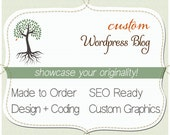 WORDPRESS Blog. Custom Theme. OOAK Template. DIY Pages. One of a kind. Do it yourself Wordpress. Includes graphics. Training.