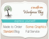 WORDPRESS Blog. Standard. OOAK Custom Theme. DIY Pages. One of a kind. Do it yourself Wordpress. Some graphics. Includes install & training.