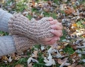 RESERVED CUSTOM LISTING for Melissa - Fingerless Gloves in Acrylic- Coal Grey Color