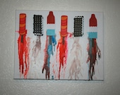 Melting Ice Cream Crayon Art