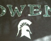 Cutom made Sparty towel