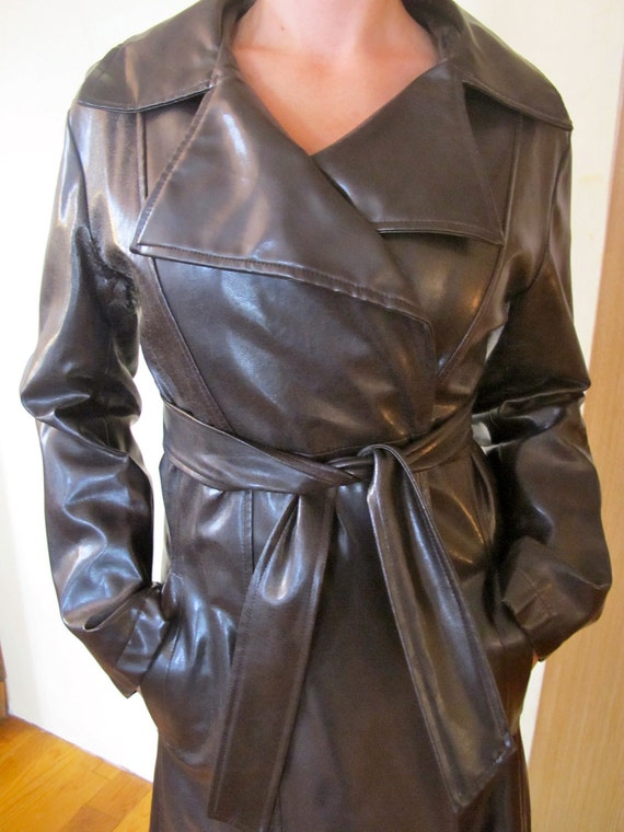 Items similar to Sexy Spy Trench Coat - Chocolate Brown ...