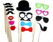 Photo Booth Props - 15 piece