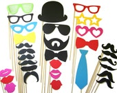 Photo Booth Props - 31 Piece Ultimate Collection