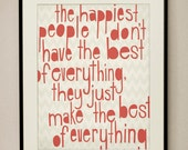 Happiest People 11x14 Art Print