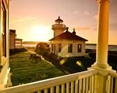"8""x10"" Mukilteo Lighthouse, sunflare"