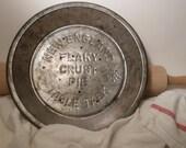 Rustic New England Table Talk Vintage Pie Tin