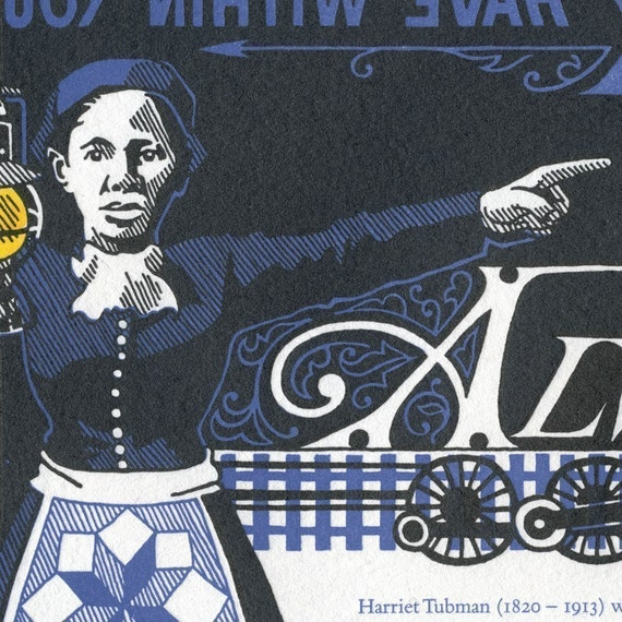 END of the LINE oversized postcard featuring Underground Railroad leader Harriet Tubman