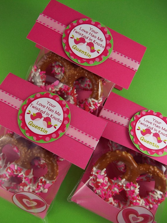 Items similar to Chocolate Covered Pretzel Party Favor ...