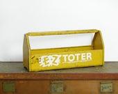 "Vintage Yellow Tools Box  // ""Jim's"" EZ Toter // Vintage Tool Tote"