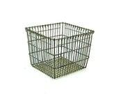 Vintage Wire Basket  - Metal Basket - Vintage Industrial Basket