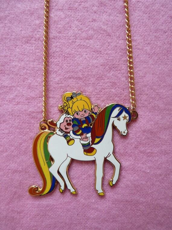Vintage Rainbow Brite 80s Cartoon Necklace *Last one!