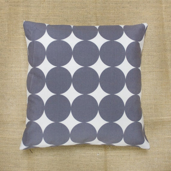 "Modern Designer Dotscape Toss Pillow Case, 14""x14"", Storm Gray and White"
