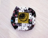 Eyeball Pin, EmbroideryWith Vintage Fabrics