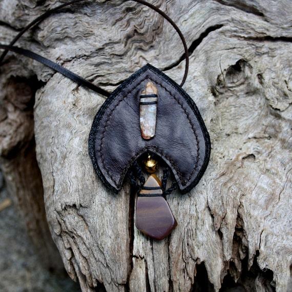 RESERVED Kyanite and Mookaite Jasper Necklace handmade by Ariom Designs