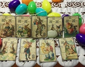 9 Lg. Vintage Easter Tags, Adorable Vintage Inspired for Gift Baskets, Table Settings, Cards, etc.