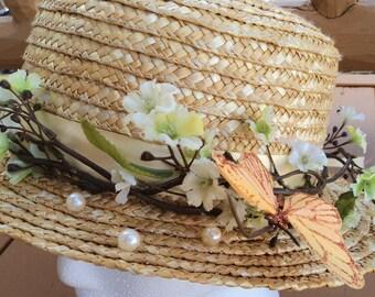 Prairie Butterfly Derby Hat