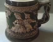 Inarco Black & Green Detailed Couple Stein / Mug