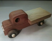 Redwood flatbed truck with Oak bed