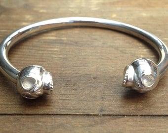 Silver Skulls Braçelet