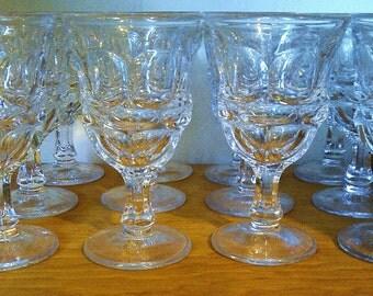 12 Small Wine/Cordial Glasses - Fostoria Argus HFM