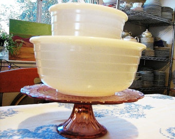 RESERVED: Antique Milk Glass Mixing Bowl Set