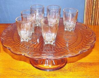Set of 6 Federal Glass Shot Glasses