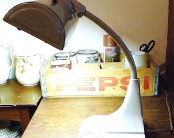 Vintage Gray Gooseneck Desk Lamp - Art Specialty Company