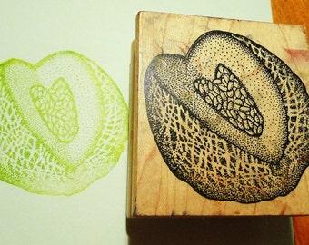 Melon / Cantaloupe Rubber Stamp