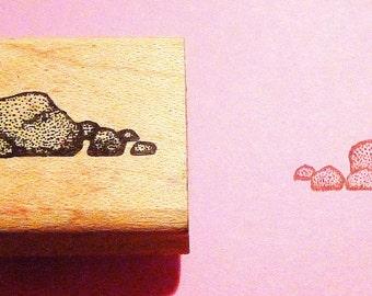Little Rocks Rubber Stamp