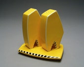 Contemporary Salt and Pepper Shaker Set in Yellow