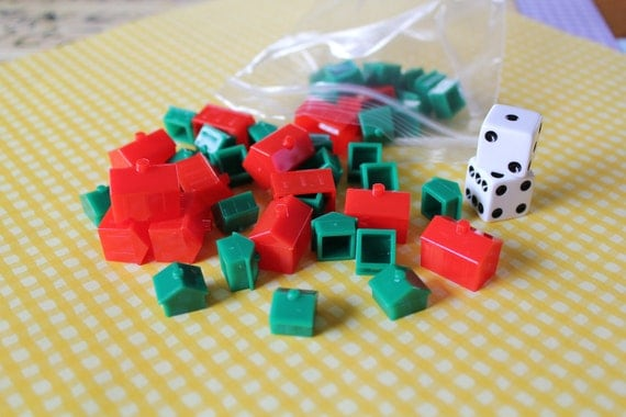 Monopoly houses hotels and dice