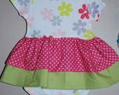 Little Girl Onsie Ruffle Dress - Size 12 months Bright pink and smashing green.