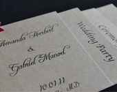 Wedding Programs - Layered sections
