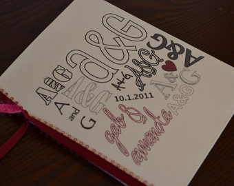 Wedding program - Initials