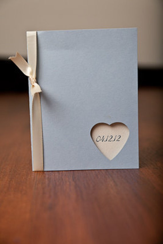 Wedding program - Heart cut out